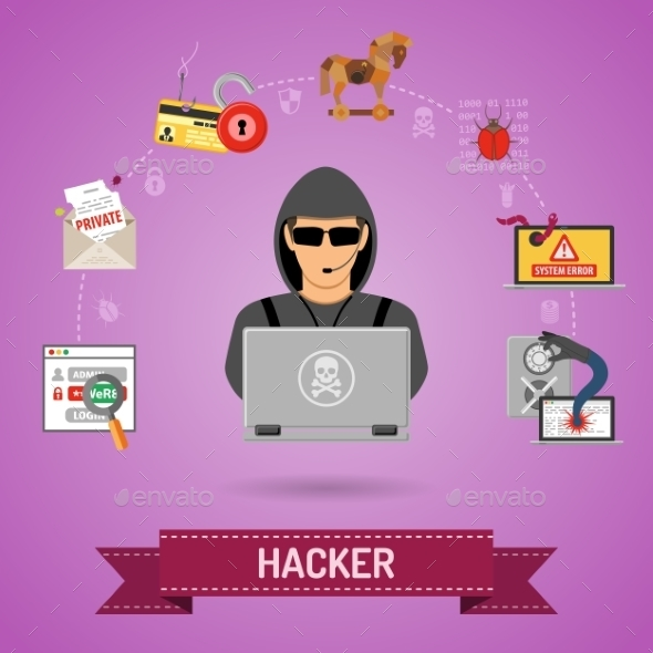 Cyber Crime Concept with Hacker - Web Technology