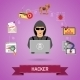 Cyber Crime Concept with Hacker - GraphicRiver Item for Sale
