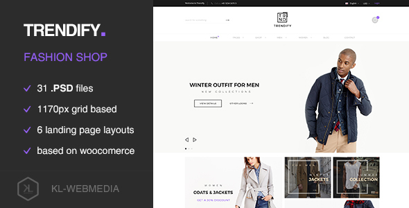 Trendify - Fashion eCommerce PSD template - Fashion Retail
