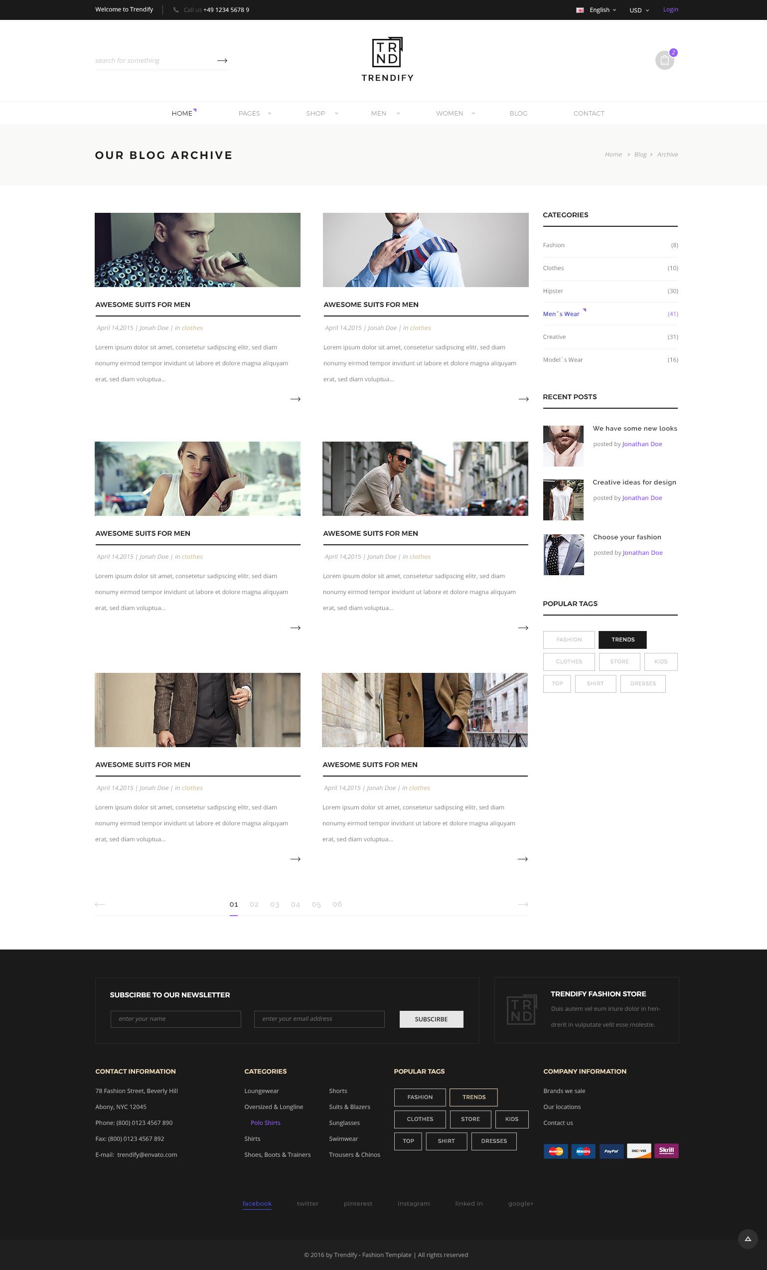 Trendify - Fashion eCommerce PSD template by KL-Webmedia ...