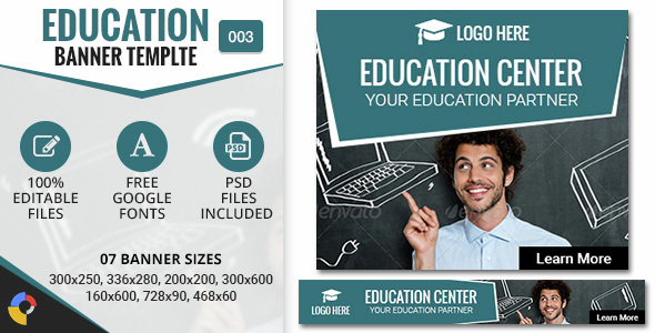 GWD | Education Center HTML5 Banners - 07 Sizes - CodeCanyon Item for Sale