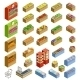 Isometric Counters with Food - GraphicRiver Item for Sale