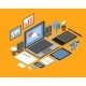 Flat Isometric Workspace - GraphicRiver Item for Sale