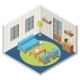 Interior of an Isometric Room with Furniture - GraphicRiver Item for Sale