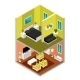 Isometric House in a Section - GraphicRiver Item for Sale
