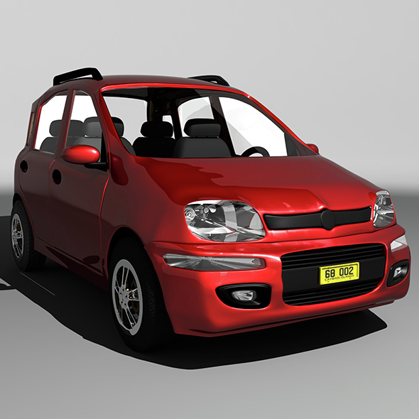 Fiat Panda Car - 3DOcean Item for Sale
