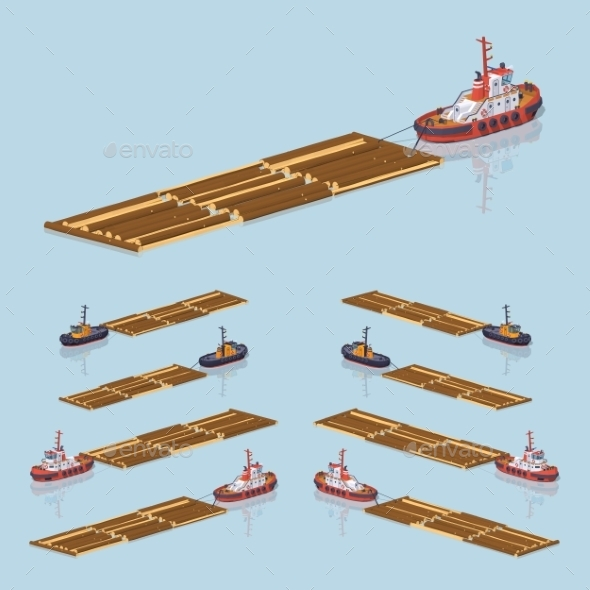 Timber Floating on Tow - Industries Business