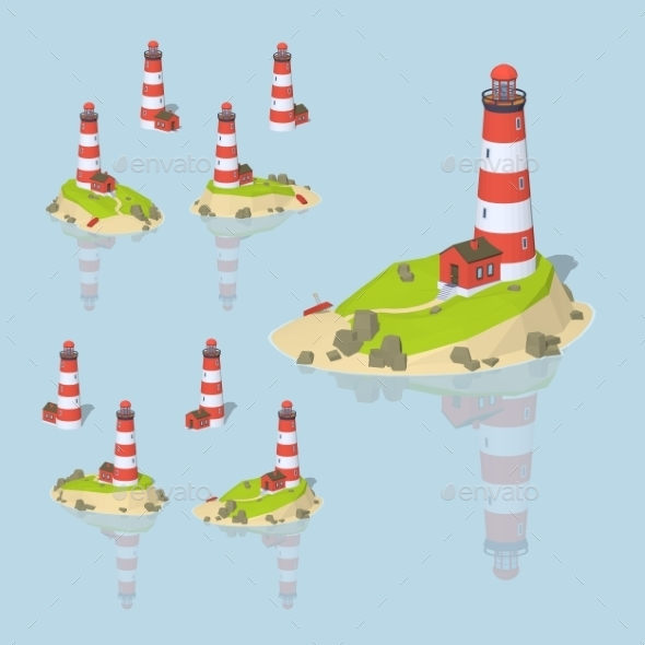 Low Poly Lighthouse - Buildings Objects