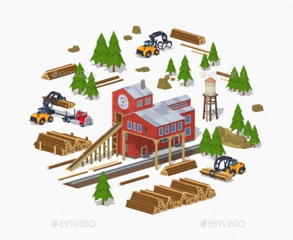 Lumber Mill Sawmill Building - Industries Business