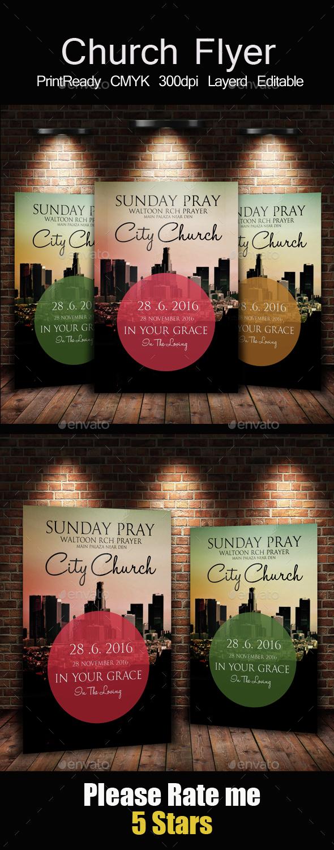 City Revival Church Flyer - Church Flyers