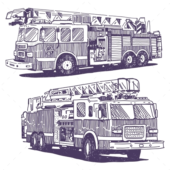 Firetruck Drawings - Health/Medicine Conceptual