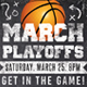 Chalk March Basketball Flyer  - GraphicRiver Item for Sale