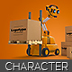LoaderBot Character Illustration
