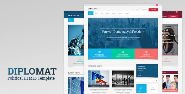 Image of Diplomat | Political Responsive Site Template
