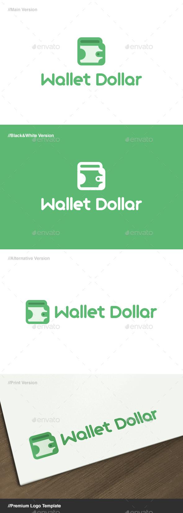 Wallet Dollar Logo - Objects Logo Templates