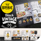 Black Vintage Menu Book - GraphicRiver Item for Sale