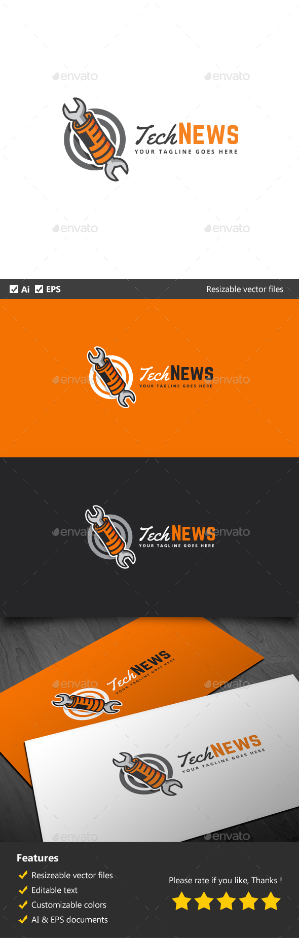 Tech News - Objects Logo Templates