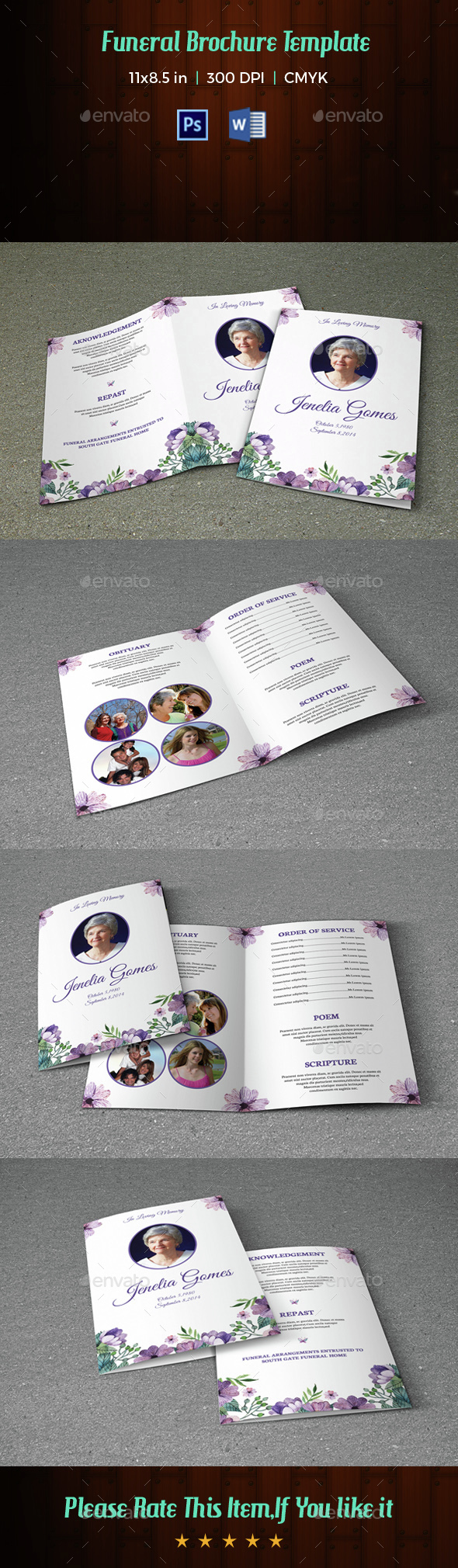 Funeral Program Template-V36 - Informational Brochures