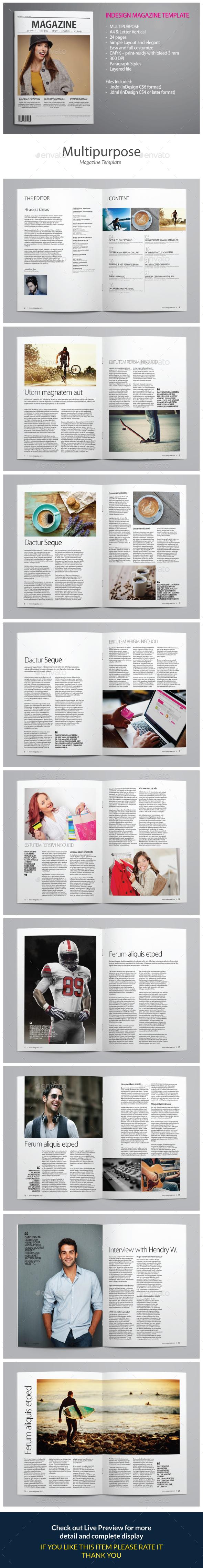 Indesign Magazine Template vol 5 - Magazines Print Templates
