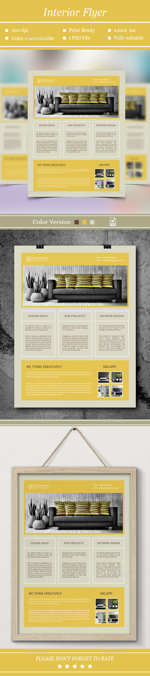Interior Flyer - Flyers Print Templates