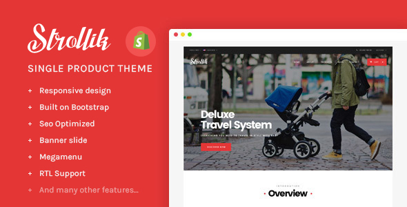 Ap Strollik - Single Product Shopify Theme