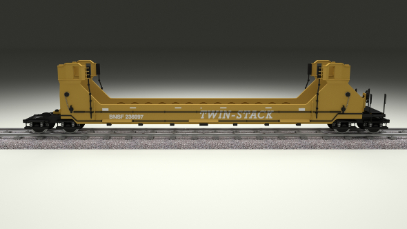 Yellow Train Well Car - 3DOcean Item for Sale