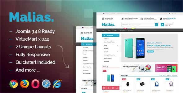 Vina Malias - Responsive Joomla Virtuemart Template - Shopping Retail