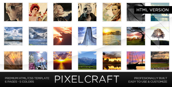 PixelCraft - HTML/CSS Premium Web Template by MDNW | ThemeForest