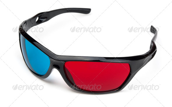 3d  glasses - Stock Photo - Images