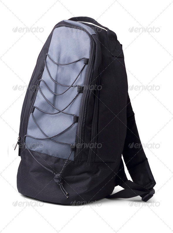 Black backpack - Stock Photo - Images