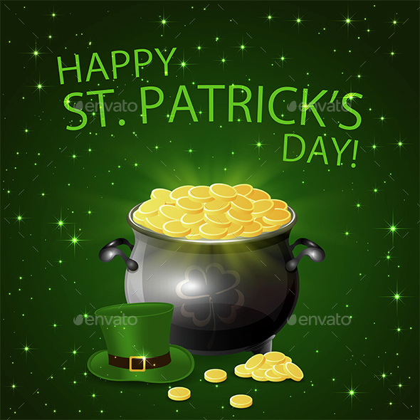 Patricks Day Background with Leprechaun Gold - Miscellaneous Seasons/Holidays