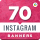 Instagram Banners - 70 Banners - GraphicRiver Item for Sale