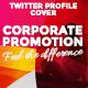 Twitter Profile Cover - Corporate Promotion - GraphicRiver Item for Sale