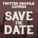 Twitter Profile Cover - Retro Save the Date - GraphicRiver Item for Sale
