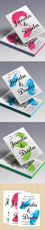 Paint Wedding Card (Three Colours) - Weddings Cards & Invites