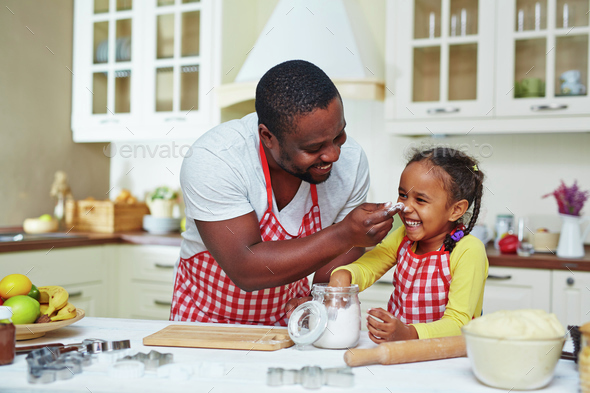 Having fun during cooking - Stock Photo - Images