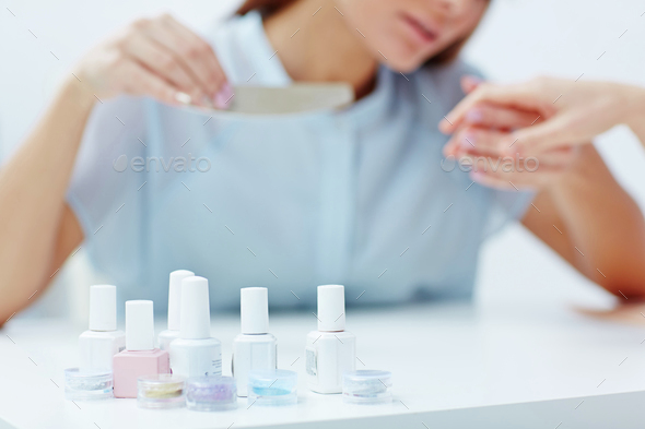 Doing manicure - Stock Photo - Images