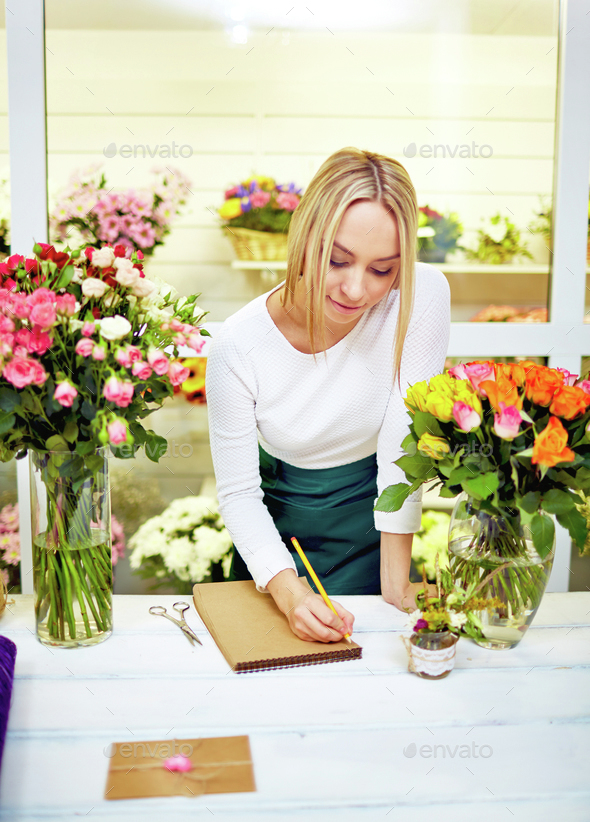 Florist at work - Stock Photo - Images
