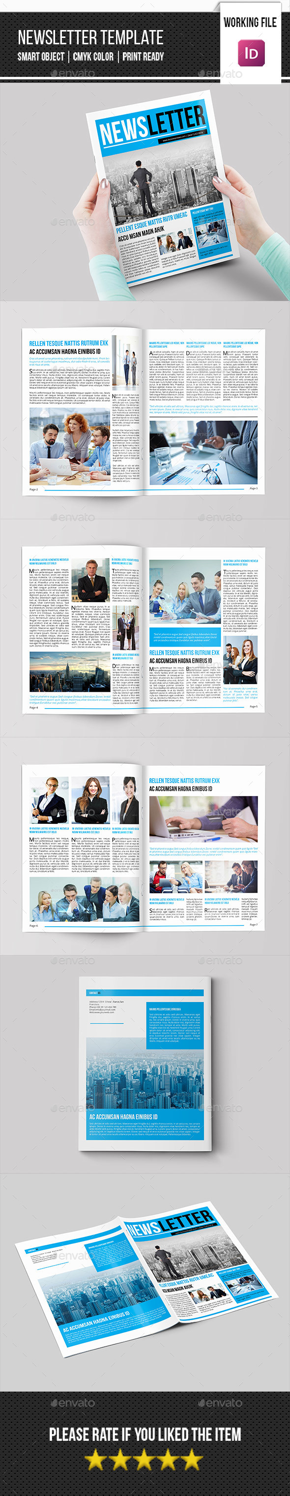 Corporate Newsletter Template-V09 - Newsletters Print Templates