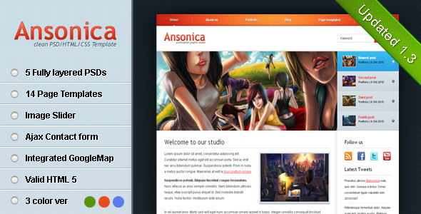 Free Download Ansonica - Clean & Modern HTML Template Nulled Latest Version