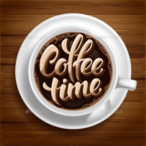 Coffee Time Concept - Backgrounds Decorative