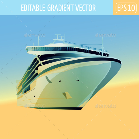 Ocean Liner Illustration - Man-made Objects Objects
