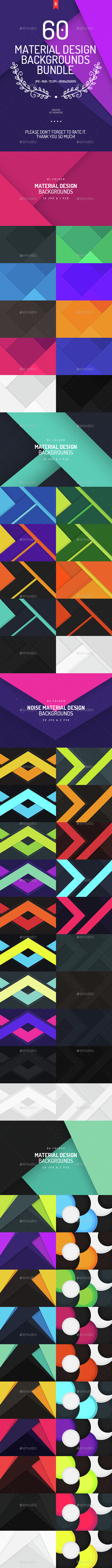 60 Material Design Backgrounds Bundle - Backgrounds Graphics