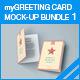 myGreeting Card Mock-up Bundle 1 - GraphicRiver Item for Sale