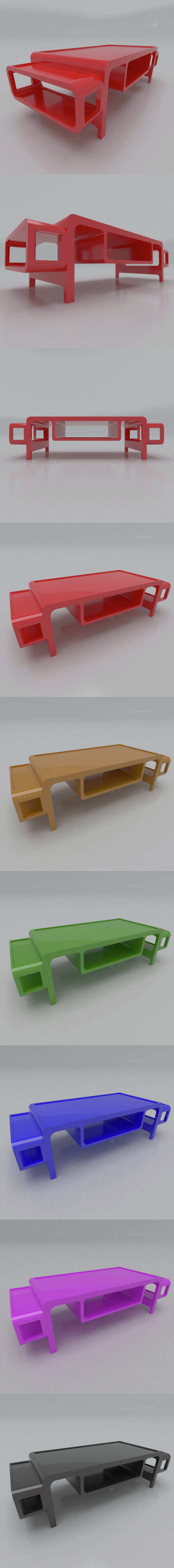 Modern low TABLE - 3DOcean Item for Sale