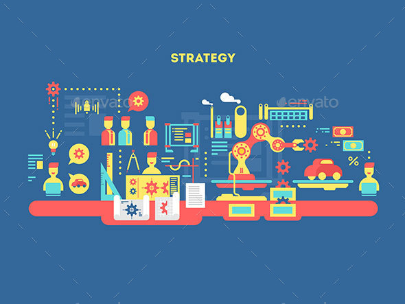 Strategy Design Flat Concept - Miscellaneous Vectors
