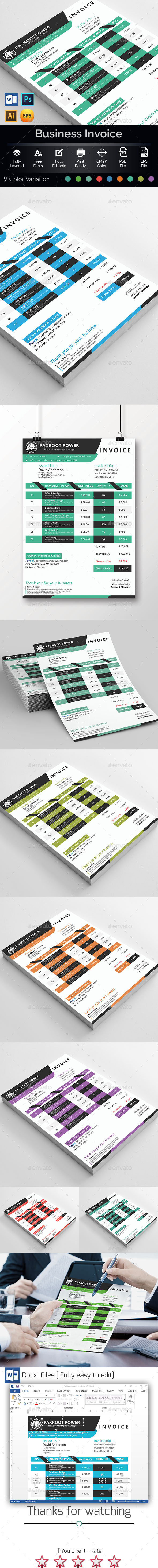 MS Word Invoice Template - Proposals & Invoices Stationery