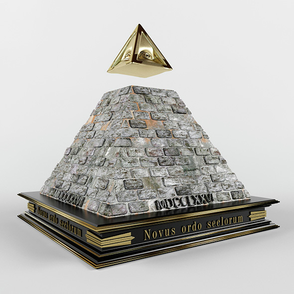 Illuminati pyramid - 3DOcean Item for Sale
