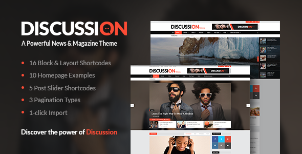 Discussion – A Powerful News & Magazine Theme