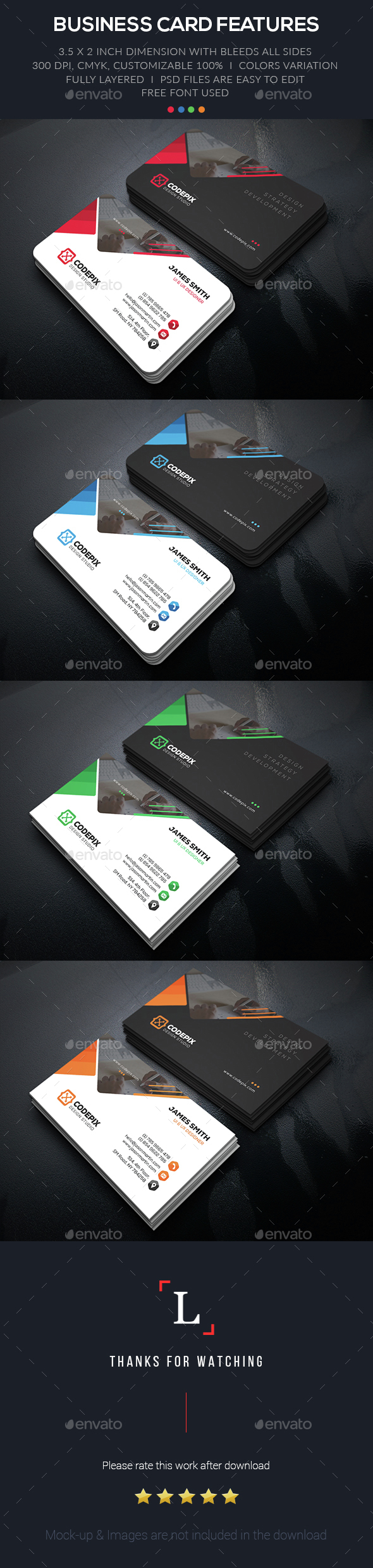 Strategy Business Card - Business Cards Print Templates